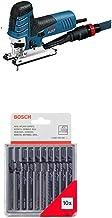 Bosch Professional GST 150 CE - Sierra de calar, profundidad de corte 150 mm, en maletín, 780 W + Bosch 2607010146 - Cuchilla de sierra caladora (pack de 10)
