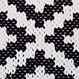 Relaxdays Teppich Baumwolle, Läufer rutschfest, Teppichläufer Flur, gewebt, Wohnzimmerteppich 120x180 cm, schwarz weiß - 3