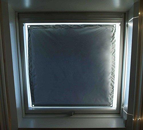 eXsun Sonnenschutz für Velux & Roto Dachfenster | Ohne Bohren mit Saugnäpfen *KraftHaftSauger Made in Germany!* | | Rollo Braas | Fakro | Verdunklungsrollo - Größe: Velux 089 | Y89 = 96x140cm