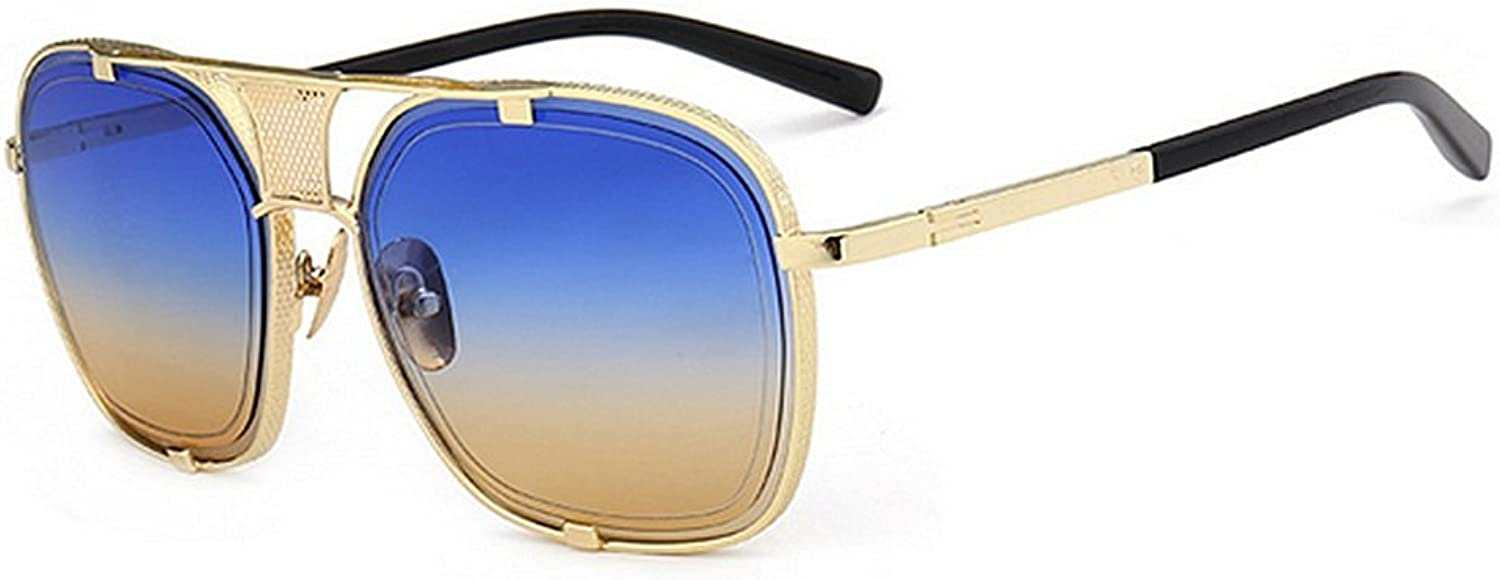 Retro Style Metal Rimmed Sunglasses for Women Men UV Predection for Driving Vacation Summer Beach (color   C6)