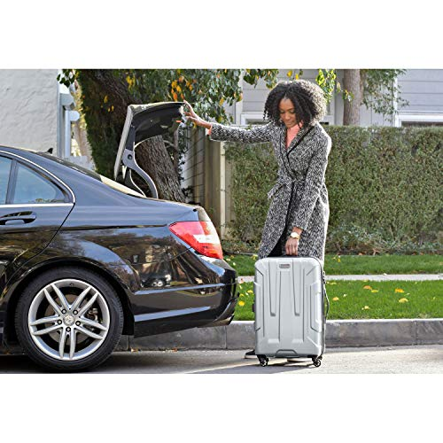 Samsonite Centric Hardside Expandable Luggage with Spinner Whe   els, Silver, Carry-On 20-Inch