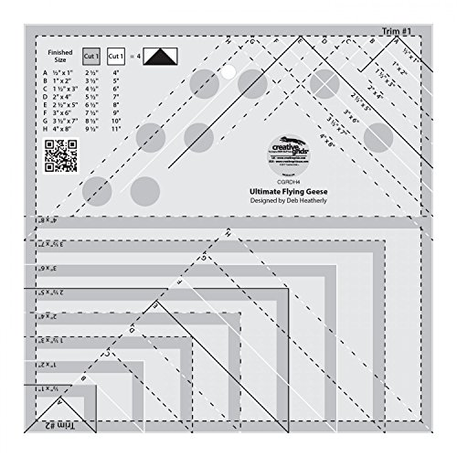 Creative Grids Ultimate Flying Geese Template and Quilt Ruler [CGRDH4]