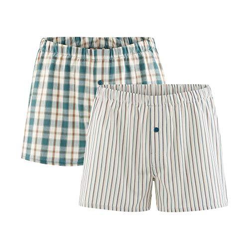 Living Crafts Boxer-Shorts, 2er-Pack S, salvia/Natural