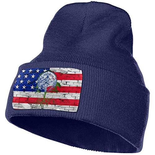 AEMAPE Sombrero de Punto Unisex Gorro de Calavera de Moda Sombreros de Punto - Bandera de Las raíces de la Ciudad de Nueva York