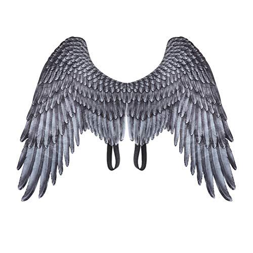 Alas de ángel Encantadoras Traje de alas de Hadas Fiesta de Halloween Carnaval Cosplay Alas para Hombres Adultos Mujeres Niños Niños, Accesorios de decoración de Halloween