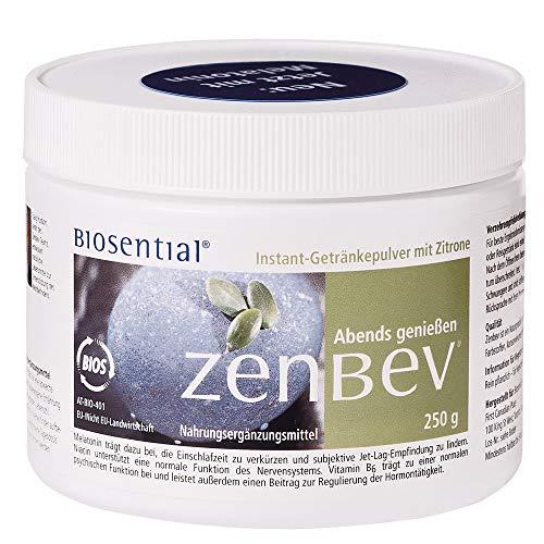 Zenbev Zitrone, 250 g | Pulver | Rein pflanzlich | Unterstützt Nerven & Psyche | Vitamin B3 & B6 | Fördert das Einschlafen