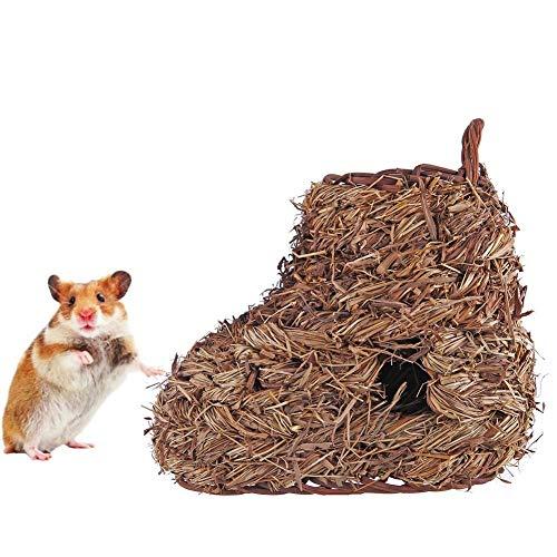cuepar Natürliche Stroh Sandalen und Sandalen kleines Haustier Nest handgemachtes Stroh handgemachtes Stroh gestrickte Hausschuhe Hausschuhe knabbern Spielzeug