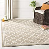 SAFAVIEH Amherst Collection AMT422S Moroccan Trellis Non-Shedding Living Room Bedroom Accent Area Rug, 3' x 5', Wheat / Beige