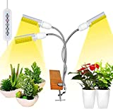 LED Grow Lights White Sunlike, 68W 132 LED 3-Head Plant Grow Light, with Auto ON/Off Two-Way Timer,...