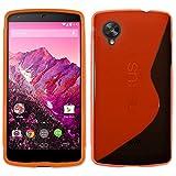 ebestStar - Funda Compatible con LG Nexus 5 E980 Carcasa Gel Silicona Gel TPU Motivo S-línea, S-Line Case Cover, Rojo [Aparato: 137.84 x 69.17 x 8.59mm, 5.5'']