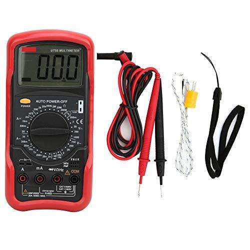 Multímetro DC, multímetro de amperímetro de desempenho estável, entusiastas de rádio portátil de temperatura para laboratórios de transistores