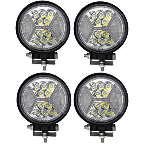 QCLU Luz de Trabajo LED de 4 Pulgadas 132W Haz Redondo Spot Nuevos Focos for Automóviles, Todoterreno ATV SUV Luz Antiniebla for Camión con Luces Estroboscópicas de Apertura (Color : 4 pcs)