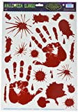 Beistle Bloody Handprint Clings, 12-Inch by 17-Inch Sheet (01035)
