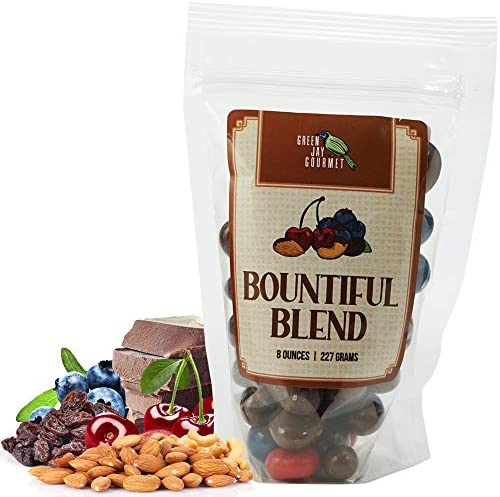 Green Jay Gourmet Chocolate Fruit Nut Mix Handmade Fresh Milk Chocolate Covered Nuts Cherries product image