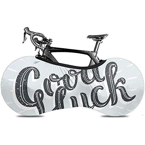 L.BAN Sweet-Heart Fahrrad Radabdeckung, Protect Gear Reifen Fahrradabdeckung - Pinsel Abschied Vintage mit Schriftzug Viel Glück Comic Strip Lehrbuch Blase