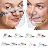 Transparent Shield,Universalgröße Anti-Fog Kompakt Schutzvisier,Safety Gesichtsschutzschild Kunststoff Visier Gesichtsschutz,Wiederverwendbare Face Visier Klarer Gesichtsschutz Schutzvisier(9PC)