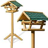 Deuba Vogelhaus Vogelhäuschen Futterstation Futterhaus mit Ständer - Bitumendach