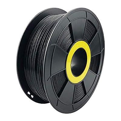 ZIRO 3D Printer Filament PLA PRO Basic Color Series 1.75MM 1KG(2.2lbs), Dimensional Accuracy +/- 0.05mm? Black