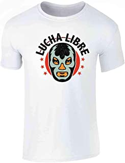 Lucha Libre Retro Mexican Wrestler Wrestling Graphic Tee T-Shirt for Men