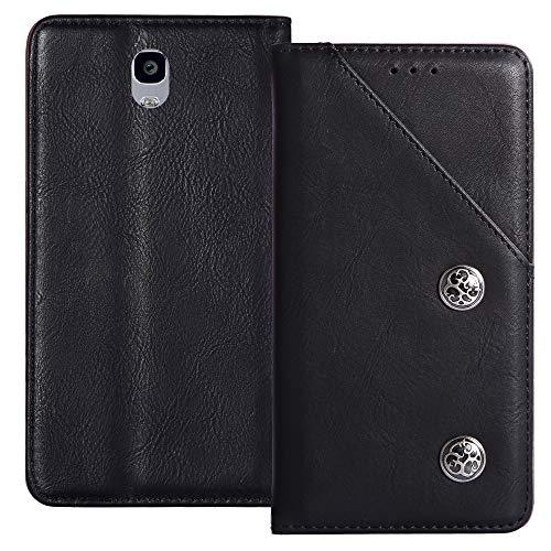 YLYT Flip Schwarz Schutz Hülle Hülle Für Oukitel K6000 Plus 5.5 inch Etui Leder Tasche Handyhülle Hochwertiges Stoßfeste Kartenfach Cover