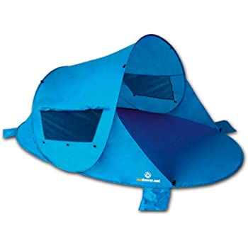 outdoorer Pop up Strandmuschel Zack Premium - Wurfmuschel mit UV 80 Sonnenschutz, Strandzelt, Windschutz