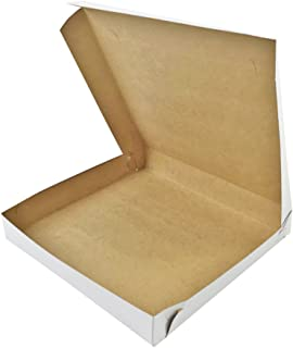 Black Cat Avenue Plain White Chipboard Pizza Box, 20 Count, 10