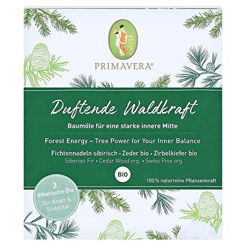 PRIMAVERA ätherische Öle Set Duftende Waldkraft - Geschenkbox 3 x 5 ml Zirbelkiefer, Zeder, Fichtennadel - Aromaöl, Duftöl, Aromatherapie, Geschenke - vegan