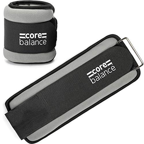 Core Balance Ankle Wrist Weights Adjustable Straps Neoprene Fabric Set Of 2