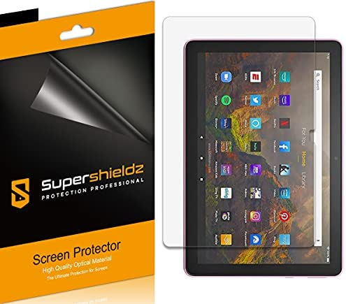 (3 Pack) Supershieldz Designed for All-New Fire HD 10 / Fire HD 10 Plus Tablet 10.1 inch (11th Generation, 2021 Release) Screen Protector, High Definition Clear Shield (PET)
