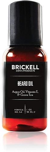 Brickell Men's Beard Oil for Men, Natural and Organic Argan and Jojoba Oil to Strengthen and Soften Hair, 1 Ounce, Sc...