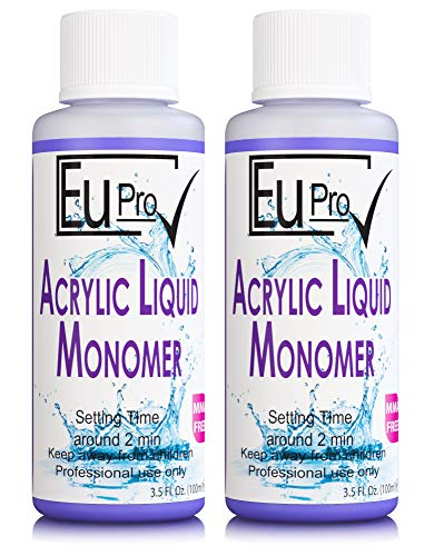 2x 100ml Acrylic Nail Liquid Monomer For Fake Salon Nails Needs powder to work