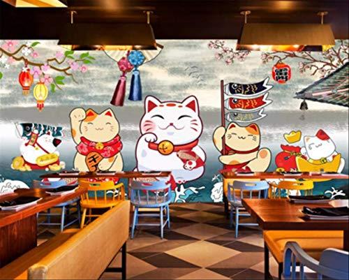 Gepersonaliseerde afmetingen, retro, Japanse stijl, restaurant, decoratie, schilderen, papier, Parede 3D gordijn Largeur 280cm - Hauteur180cm Een