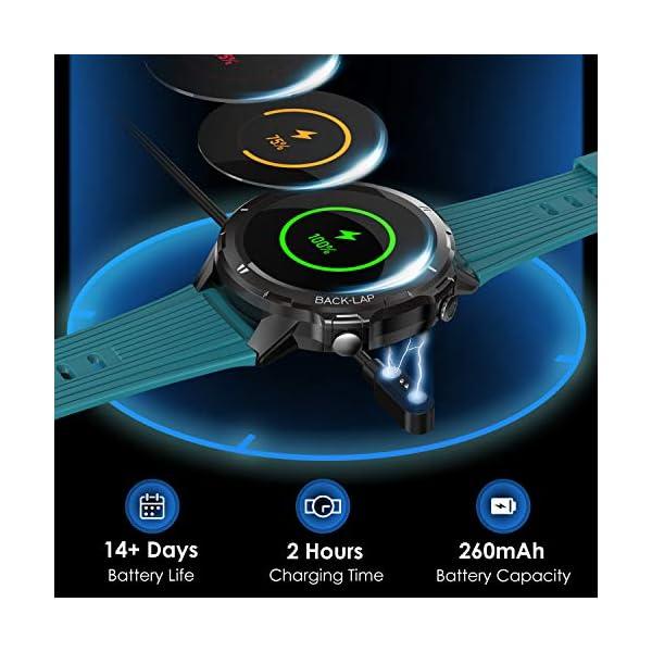 Vigorun Smartwatch Reloj Inteligente Hombre Mujer, Pantalla Táctil Completa Relojes Deportivos, Monitor Ritmo Cardíaco y… 4