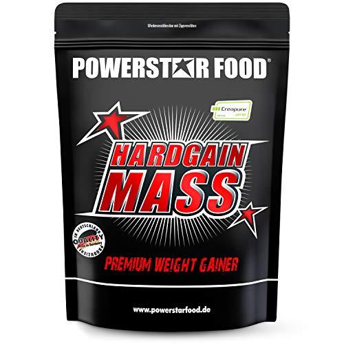 HARDGAIN MASS | 1600g | PREMIUM WEIGHT GAINER | Ohne Zuckerzusatz | Höchster Proteingehalt 27{d216aa5ca01c09ee5d946ec22e63f5fbe5b3c4dc3fcf43ef16192ec4ab6c8696} | Mit Kreatin (Creapure) | Masse, Kraft & schneller Muskelaufbau | MADE IN GERMANY | Banana