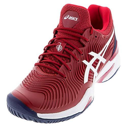 ASICS Court FF Novak Men's Running Shoe, Burgundy/White, 6 M US