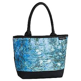 VON LILIENFELD Cabas Besace Claude Monet : Nymphéas Sac Bandoulière Spacieux Sacs Portés Èpaule Cabas Décontractés Art…