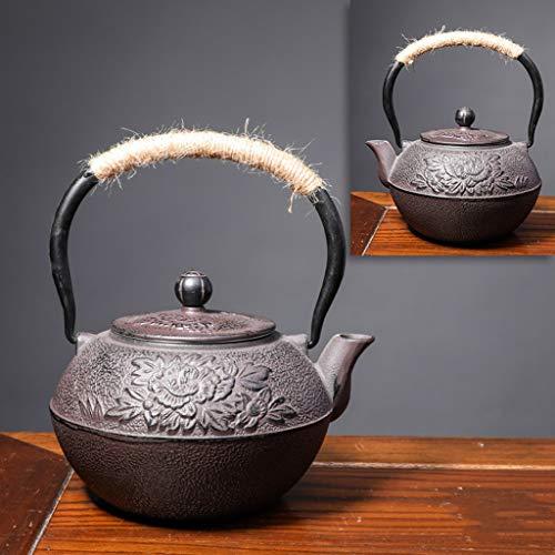 M-CH Tetera Teteras con Infusers Tetera de Hierro Fundido Hecha a Mano Caldera de té Té Olla con infusores de té Flojo (Color : Peony)