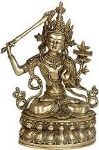 (Tibetan Buddhist Deity) Manjushri - The Bodhisattva of Wisdom - Brass Sculpture