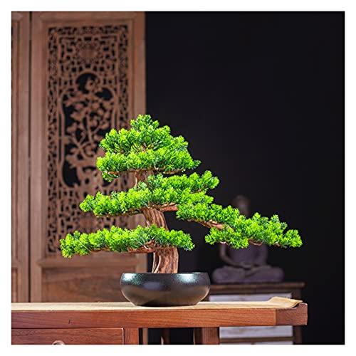 Piante artificiali Ornamento del bonsai artificiale alto da 14 pollici, una nuova simulazione cinese che accoglie il pino, l'albero finto per l'armadio del vino e la sala da tè Alberi artificiali