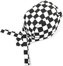 TINKSKY Fashion Chefs Hat Cap Kitchen Catering Skull Cap Ribbon Cap Turban (Black)