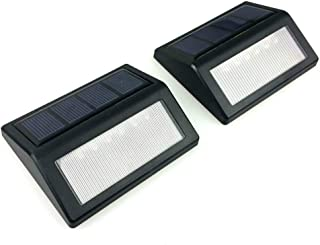 FRCOLOR 2Pcs Solar Step Light Outdoor LED Solar Stair Lights Waterproof Deck Security Lamps for Garden Patio Pathway Lawn ...