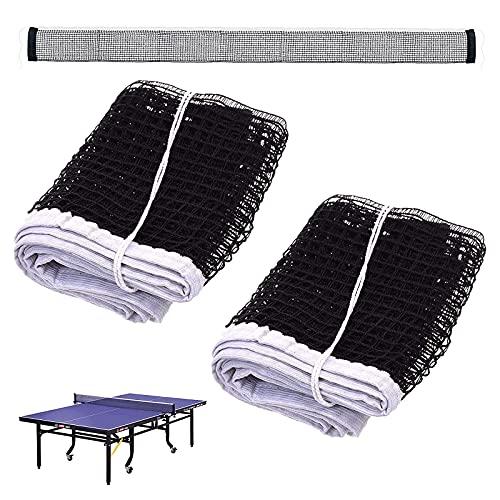 ZDSAAHAI Langlebiges Tischtennis Netze 2 Stücke Polyester Tischtennisnetz Ersatznetz Für Tischtennis Netz Schwarz Für Tischtennisplatte Für Unterwegs Und Outdoor Schwarz Und Weiß 180 cm x 15 cm