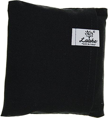 Laake Rapskissen PC-Mauskissen | Handballenkissen | Taschenwärmer | Bezug: Baumwolle | waschbar | natürlich gut (schwarz)