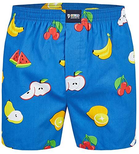 Happy Shorts Herren American Boxer Boxershorts Shorts Webboxer Vitamin C - Vitamine C, Grösse:L, Präzise Farbe:Vitamin C - Vitamine C