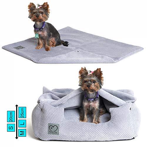 Royal Pet Orthopädisches Hundebett 3-in-1 Premium Kit, Memory Visco, Hundekorb, Hundekissen, Hundesofa, Anti-Allergisch, Öko-Tex, Maschinenwaschbar, Grau S