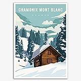 YCHND Frankreich Chamonix-Mont-Blanc Reiseposter Und