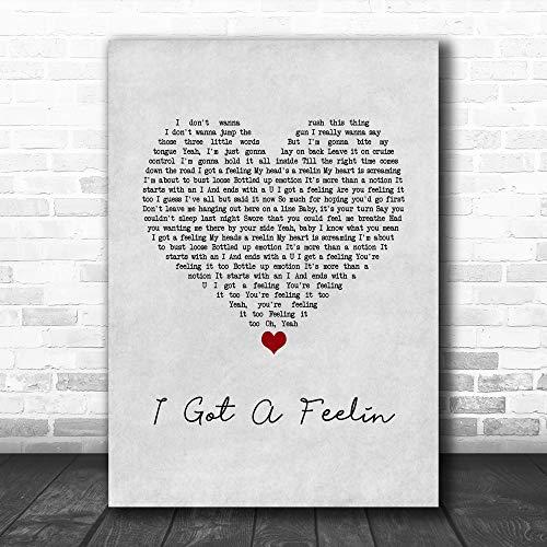 Akiratony #Billy #Currington #I Got A Feelin Grey Heart Song Lyric Poster Wall Art Home Decor Gifts for Lovers Painting