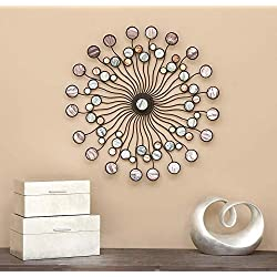 Deco 79 13533 Metal Wall Modern Iron Starburst Wall Decor, 27, Multicolor
