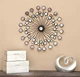 Deco 79 13533 Metal Wall Modern Iron Starburst Wall Decor, 27', Multicolor