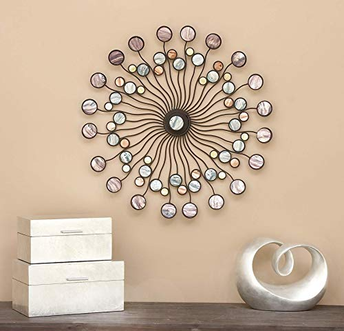 Deco 79 13533 Metal Wall Modern Iron Starburst Wall Decor 27 Multicolor Buy Online In India At Desertcart In Productid 25659949
